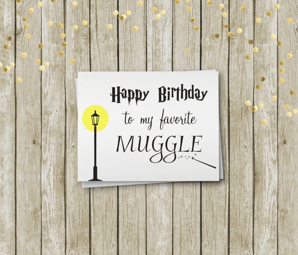 Harry Potter Birthday Card Printable Birthday Card By