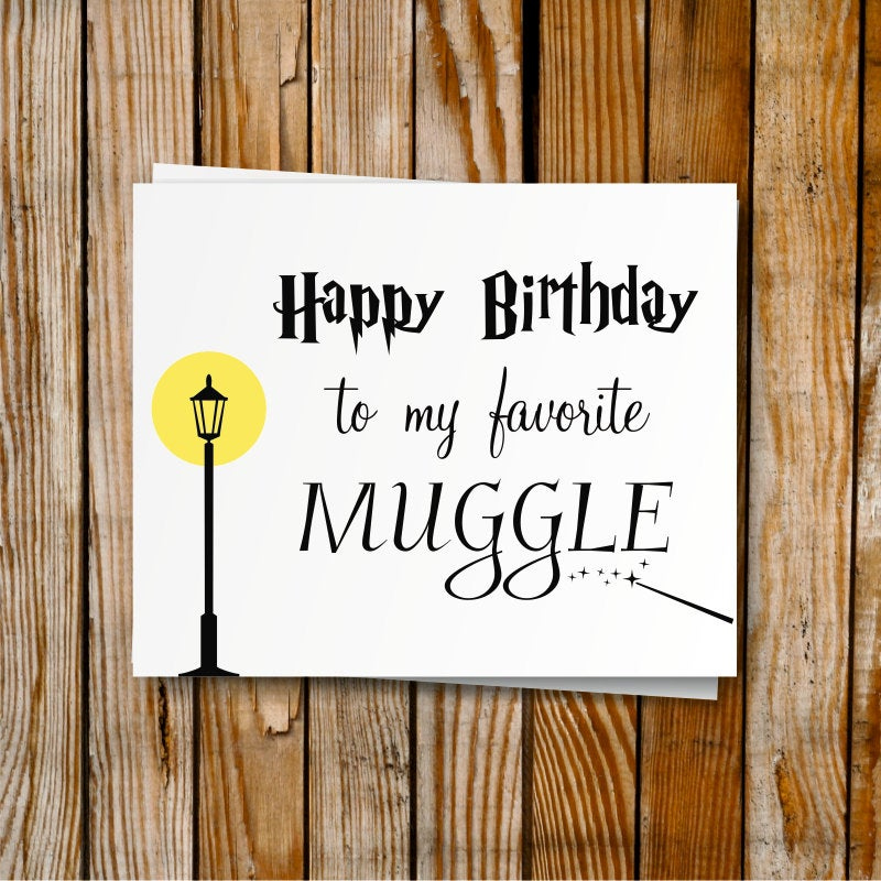 Harry Potter Birthday Card Printable DIY Birthday By