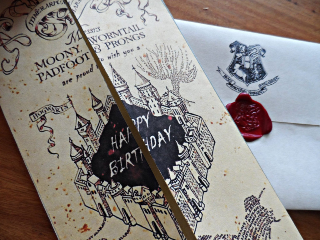 Harry Potter Marauder s Map Birthday Card By