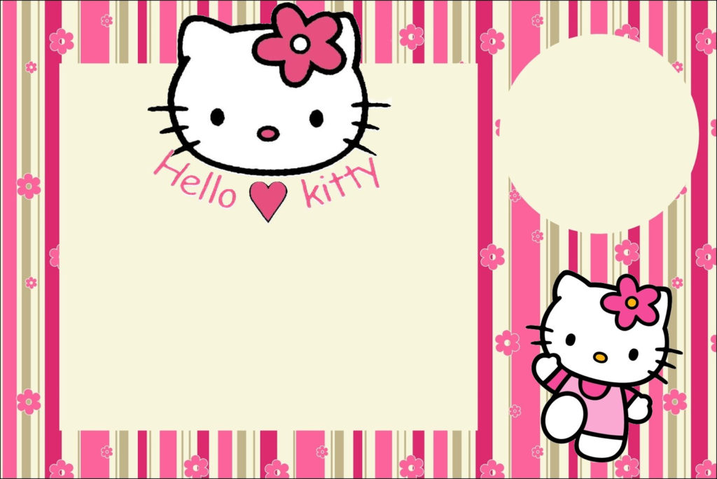 Hello Kitty With Flowers Free Printable Invitations Oh