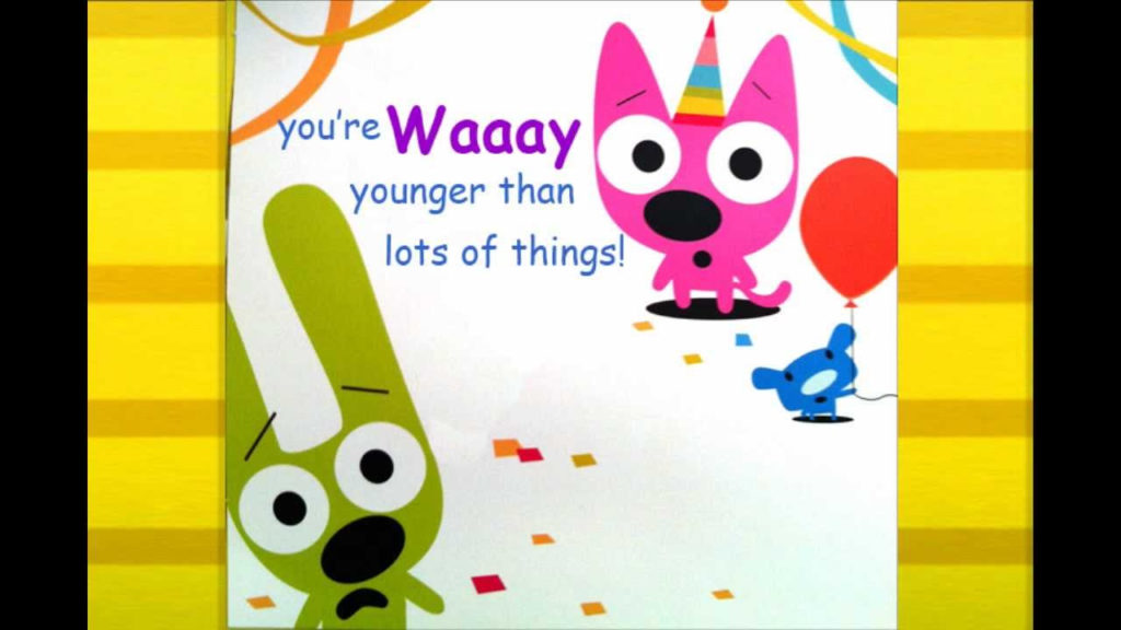 Hoops Yoyo Birthday Card You re Not Old YouTube