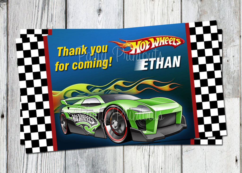 Hot Wheels Favor Tags Printable Car Birthday By Partyprintouts