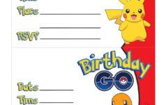Printable Birthday Invitations Pokemon