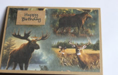 Hunting Birthday Card Deer Moose
