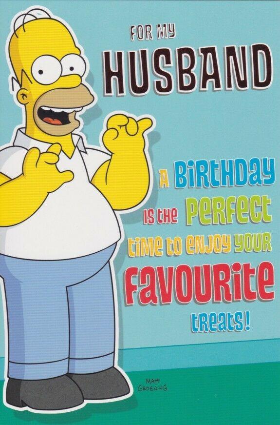 Husband Birthday Card Homer Simpson The Simpsons
