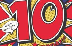 Happy 10th Birthday Printable Card