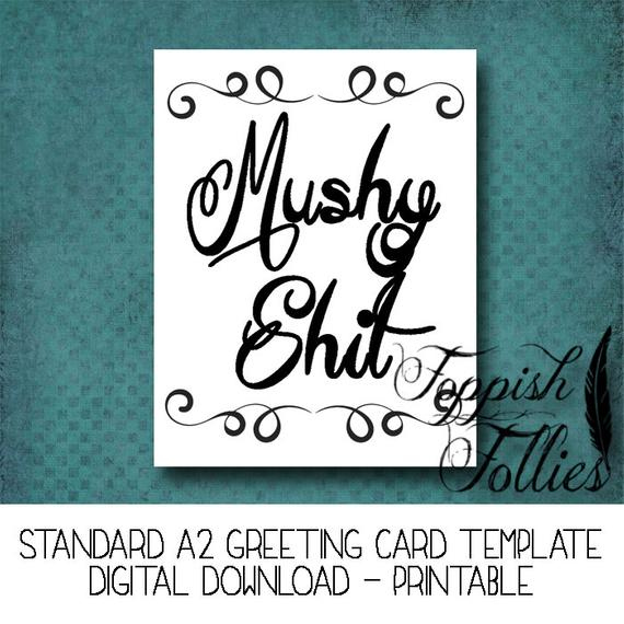 Inappropriate Adult Greeting Card Funny Mushy Love Digital