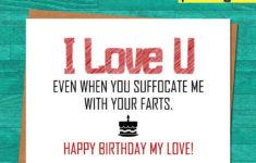Printable Birthday Cards Husband Funny