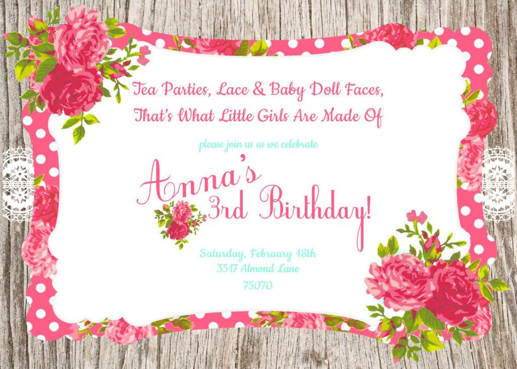 Invitation Birthday Card Invitation Birthday Card