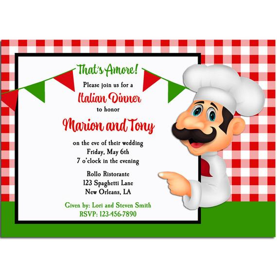 Italian Party Invitation Printable Or Printed With FREE Etsy