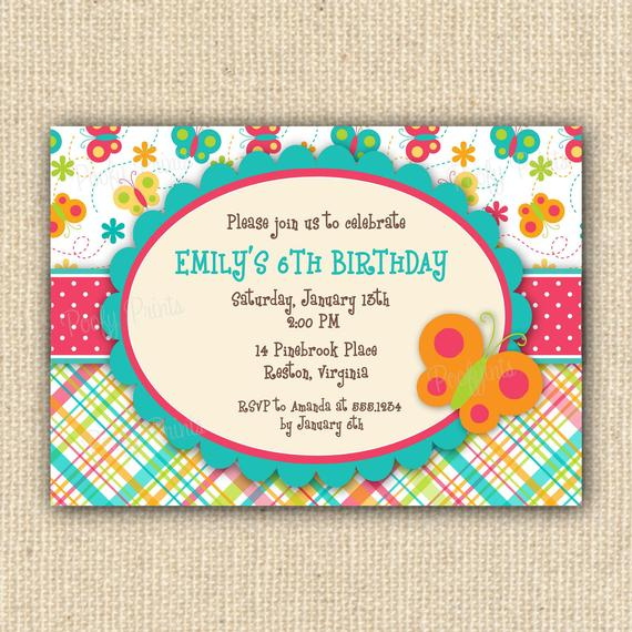 Items Similar To Butterfly Birthday Party Invitations