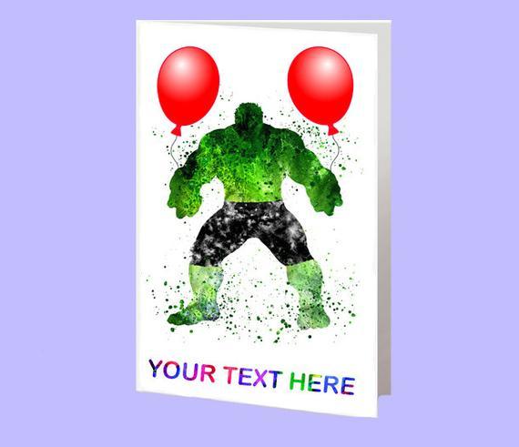 Items Similar To Hulk Card Happy Birthday Card Birthday