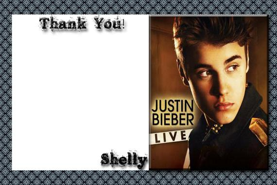Items Similar To Justin Bieber Printable Birthday Thank