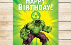 Hulk Birthday Card Printable