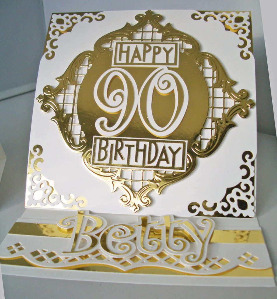 Julie s Inkspot 90th Birthday Card