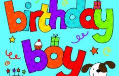 Birthday Card Printable Boy