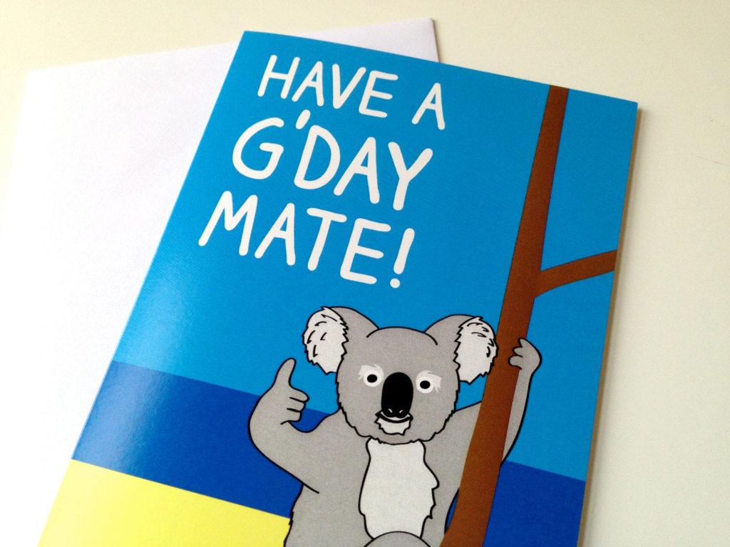 Koala Birthday Card Australian Birthday Card By HelloDODOshop