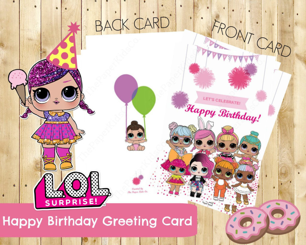 L O L Surprise Dolls Custom Made Birthday Card For Her