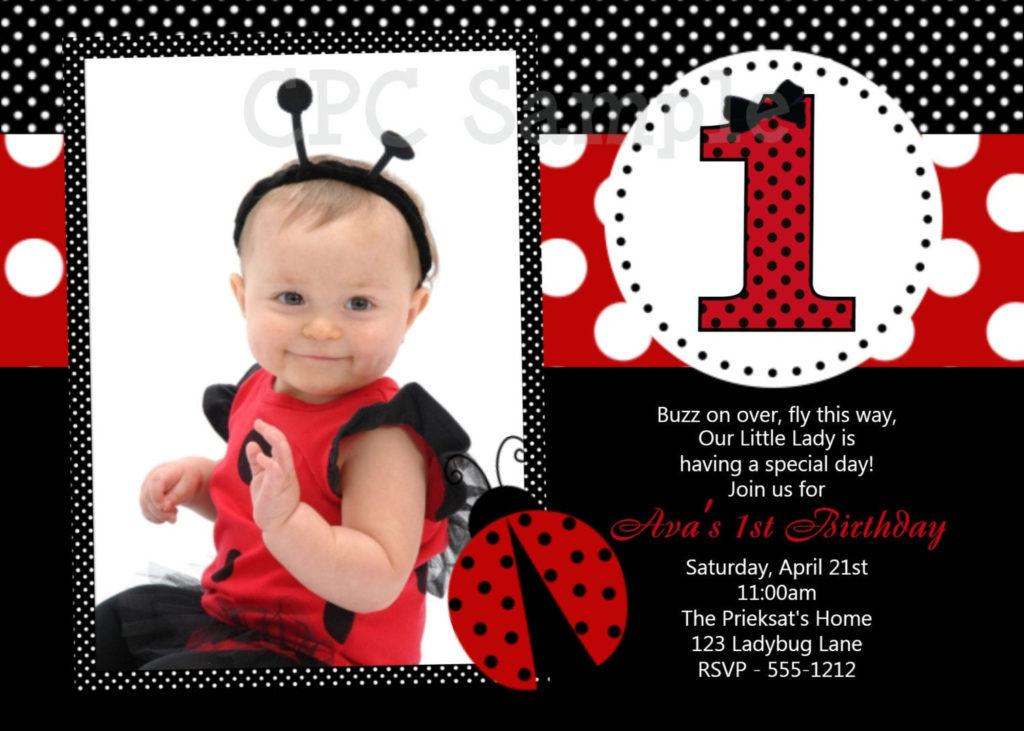 Ladybug Birthday Invitation Printable Or Printed Ladybug
