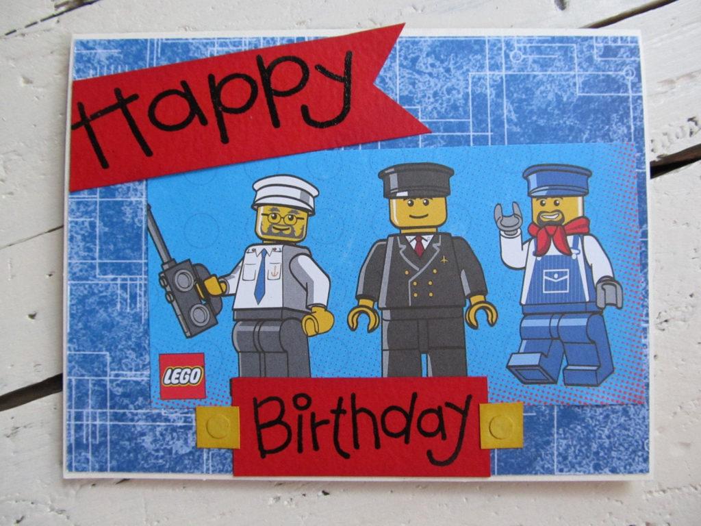 Lego Birthday Card Happy Birthday By TheCreativeCard On Etsy