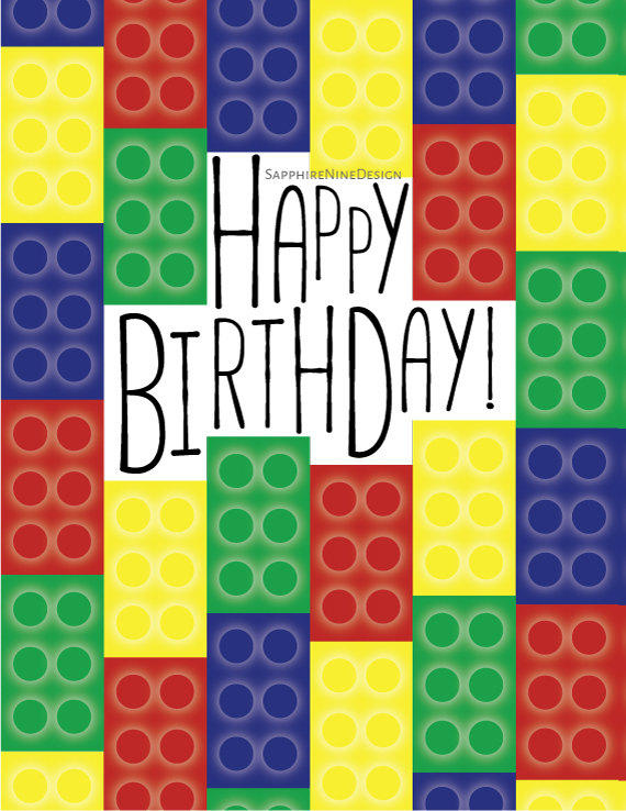Lego Birthday Card Lego Theme Party From