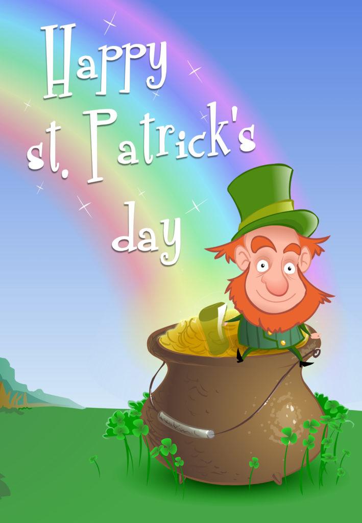 Leprechaun Wishing St Patrick s Day Card Free