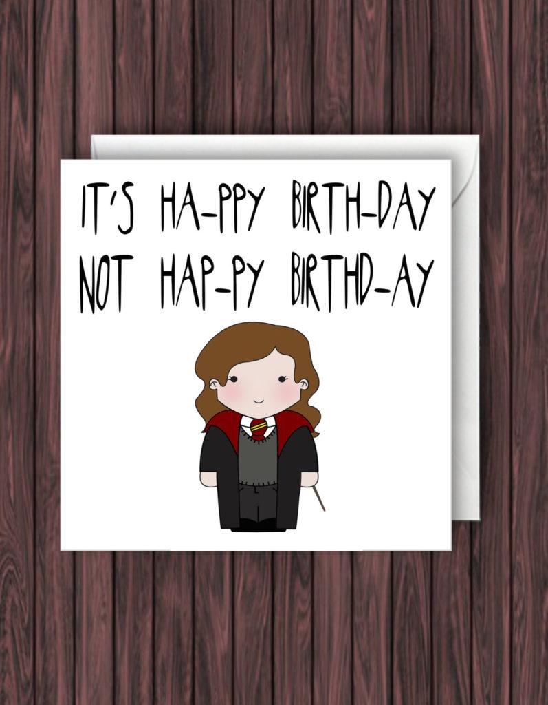 Levi o sa Harry Potter Birthday Card Funny Greetings Card