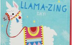 Printable Birthday Cards Llama