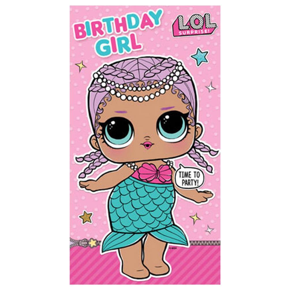 LOL Surprise Birthday Girl Birthday Card LO021