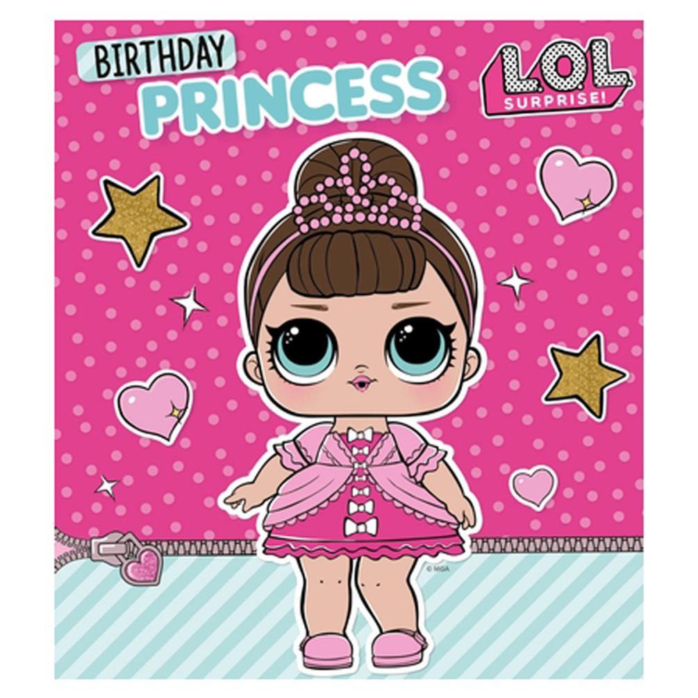 LOL Surprise Birthday Princess Birthday Card LO008