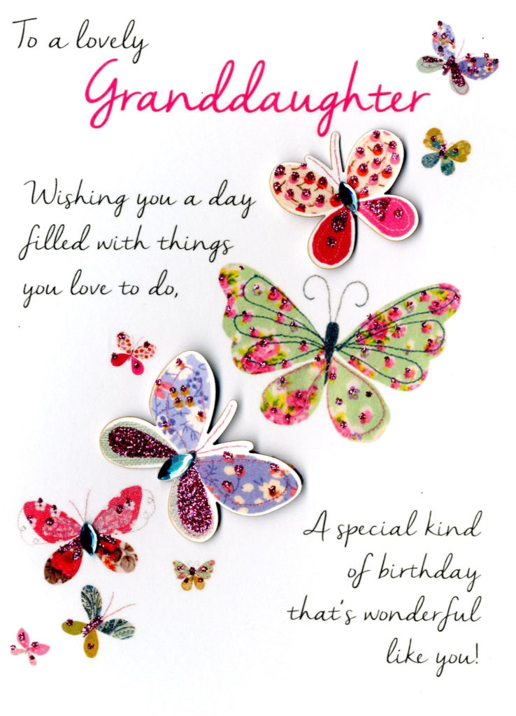 Lovely Granddaughter Birthday Greeting Card Second Nature