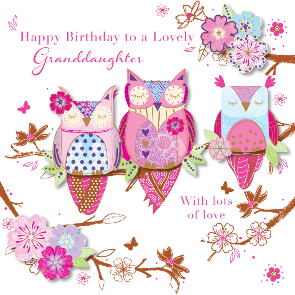 Lovely Granddaughter Happy Birthday Greeting Card Cards