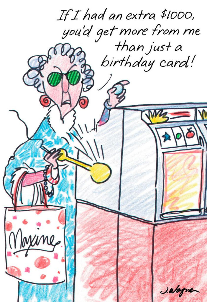 Maxine Postcard From Hawaii Funny Birthday Card