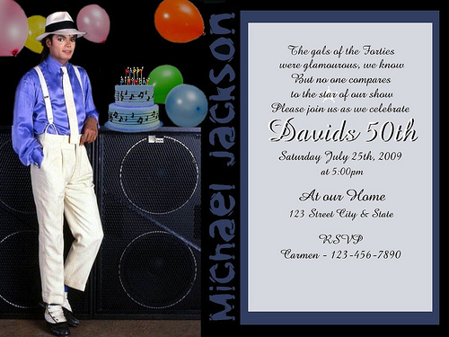 Michael Jackson Birthday Invitations Ideas Bagvania FREE