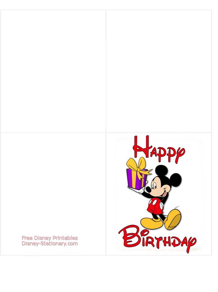 Mickey Mouse Printable Birthday Card Disney Stationary