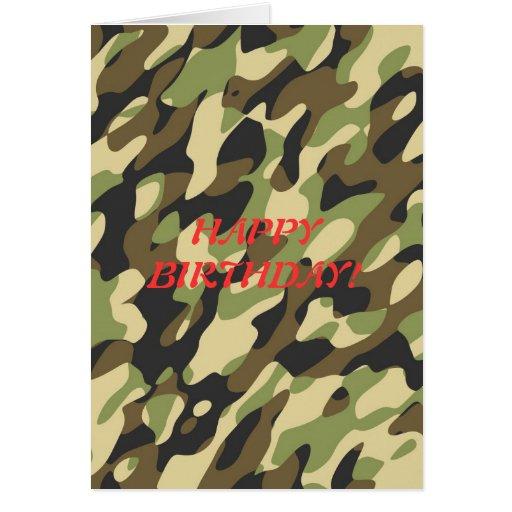 Military Camouflage Birthday Card Zazzle