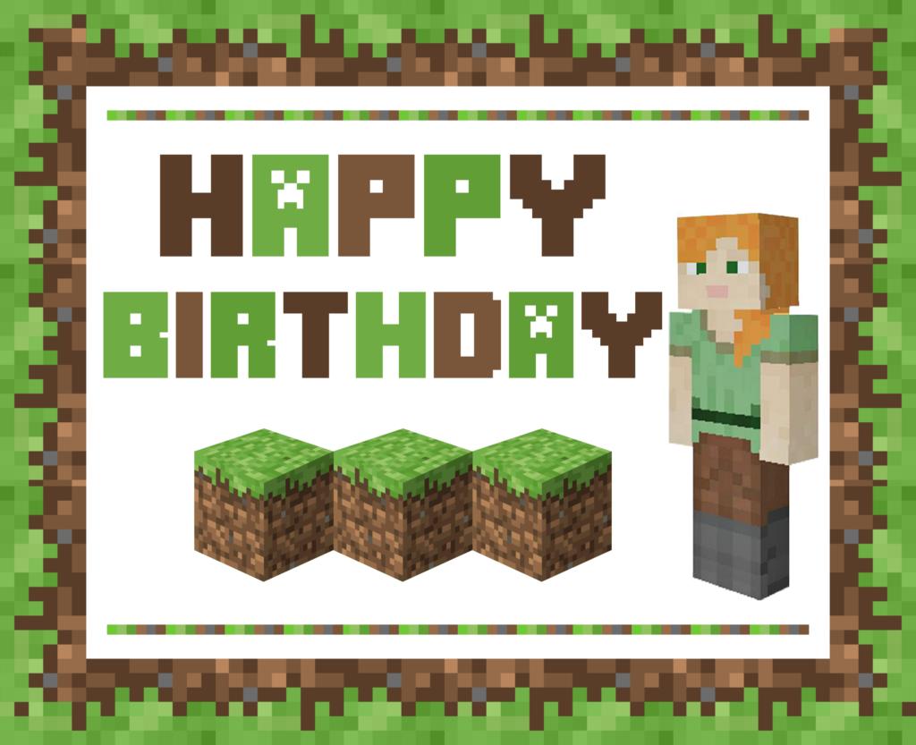 Minecraft Birthday Pictures Impremedia