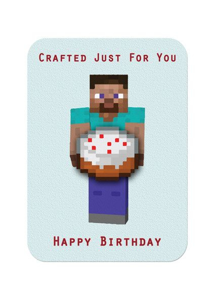 Minecraft Printable Birthday Card Minecraft Birthday