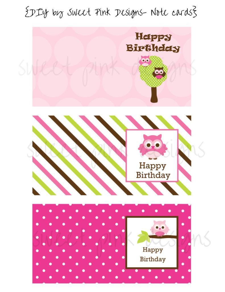 Mini Birthday Cards Printable Note Cards