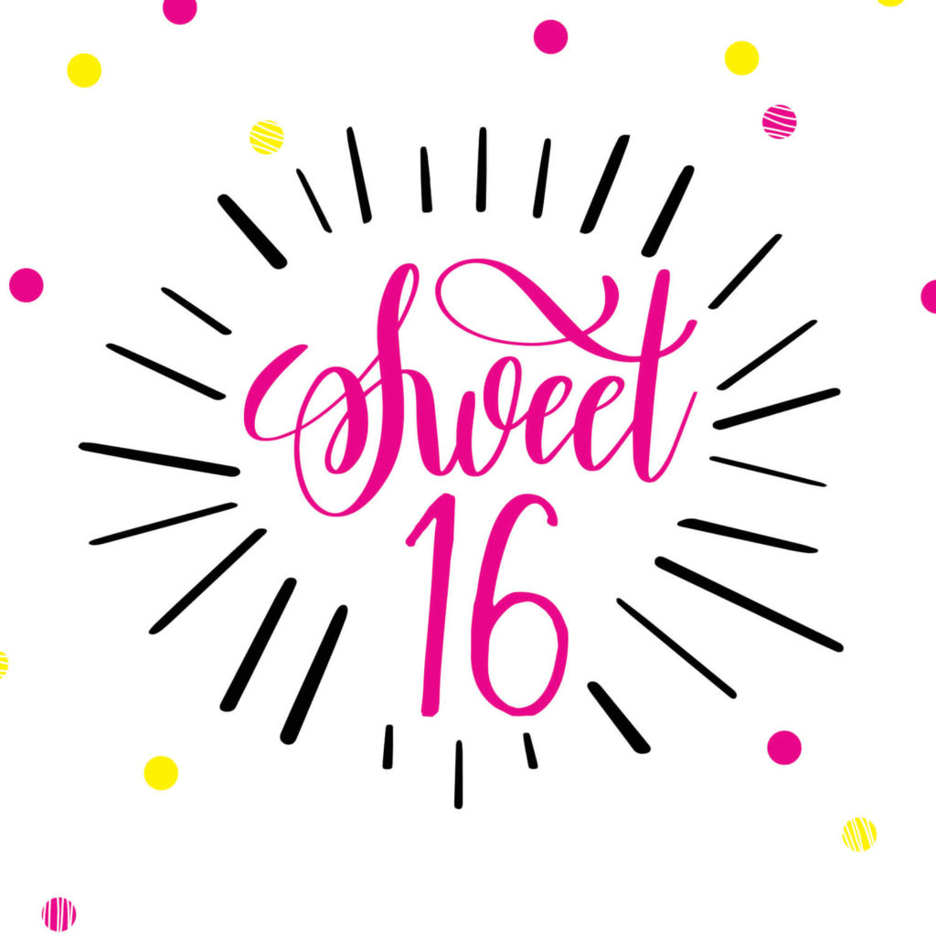 Modern Sweet 16 Birthday Card Free Greetings Island