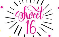 Happy Sweet 16 Birthday Cards Printable