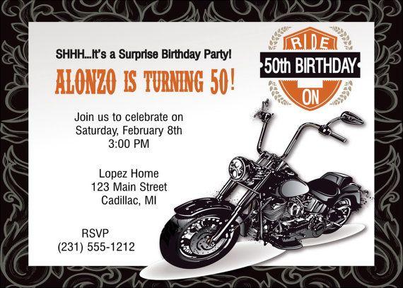 Motorcycle Birthday Invitations Ideas Bagvania
