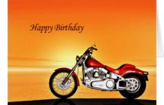 Motorcycle Birthday Cards Free Printable