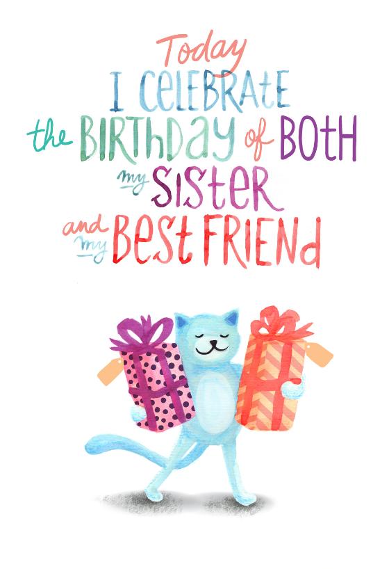 My Favorite Sisters B Day Free Birthday Card Greetings
