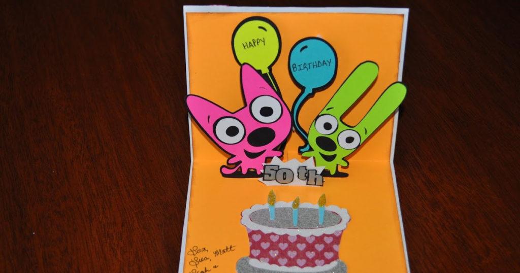 My Four Hearts Hoops YoYo Birthday Card