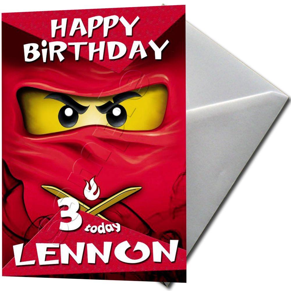 NINJAGO LEGO PERSONALISED Birthday Card Large A5 EBay