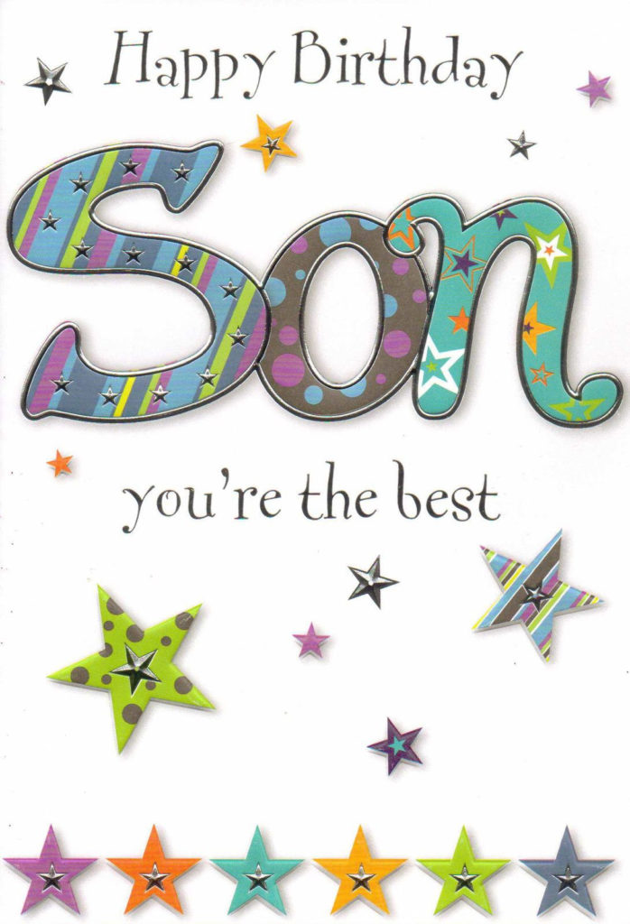 Open SON Happy Birthday Card 5 X Cards To Choose Happy