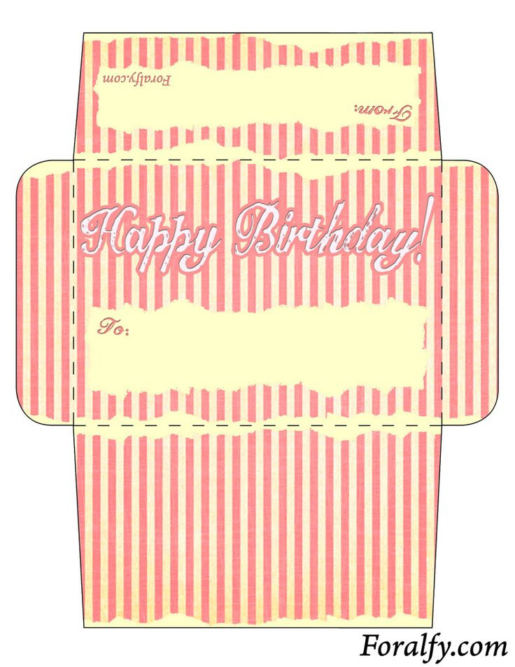 Paper Doll Birthday Card And Envelope Free Printable