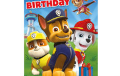 Free Printable Paw Patrol Birthday Card