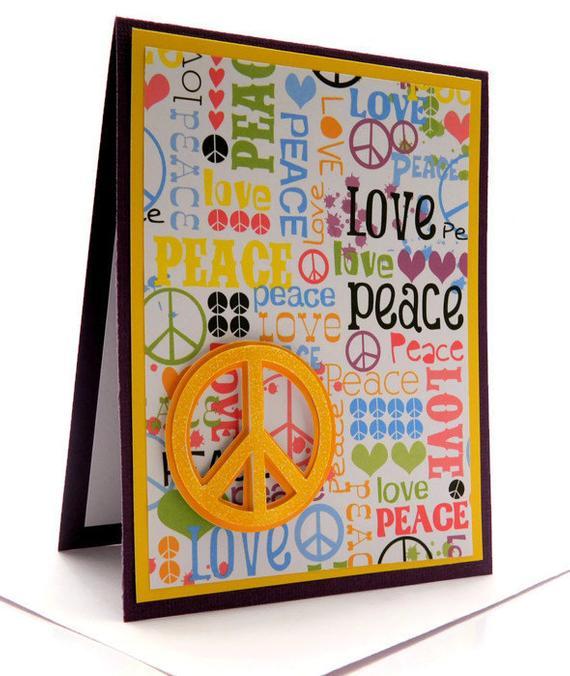 Peace Sign Birthday Card Happy Birthday Handmade By
